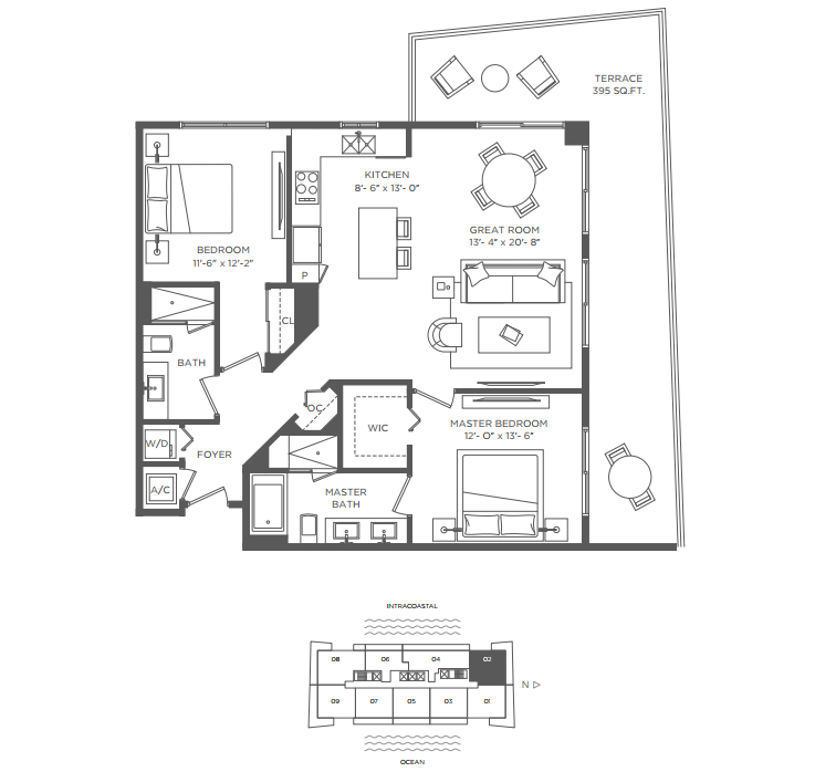 Hyde beach house condos for lease rent in hollywood fl for Hyde homes floor plans