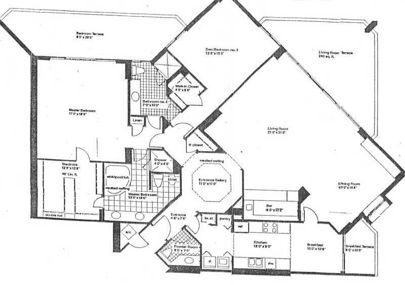 19500 Turnberry Way Floor Plans Marina Tower Of Turnberry