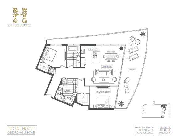 Hyde resort and residences condos for lease rent in for Hyde homes floor plans